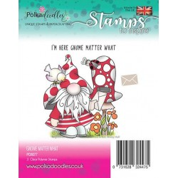 (PD8077)Polkadoodles Gnome matter what Clear Stamps