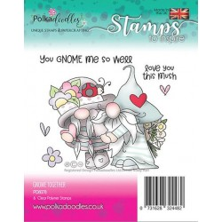 (PD8078)Polkadoodles Gnome together Clear Stamps
