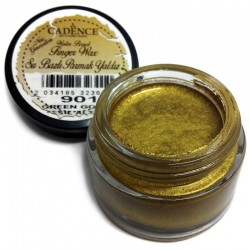 (01 015 0901 0020)Cadence Water Based Finger Wax Green Gold 20 ML