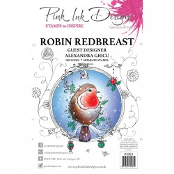 (PI083)Pink Ink Designs Clear stamp Robin redbreast