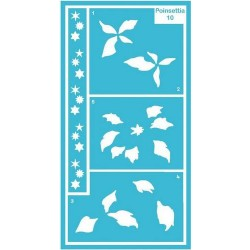 Pergamano stencil poinsettia (33310)