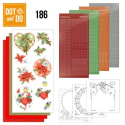 (DODO186)Dot and Do 186 - Jeanine's Art - Red Holly Berries