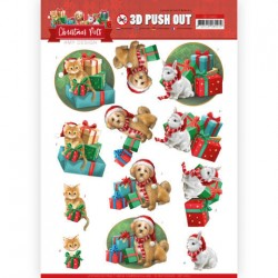 (SB10462)3D Push Out - Amy Design - Christmas Pets - Presents