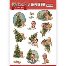 (SB10463)3D Push Out - Amy Design - Christmas Pets - Christmas Tree