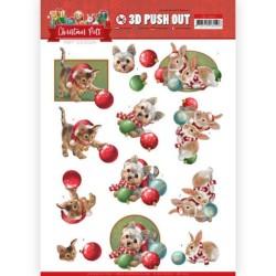 (SB10464)3D Push Out - Amy Design - Christmas Pets - Christmas balls