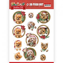 (SB10465)3D Push Out - Amy Design - Christmas Pets - Christmas dogs
