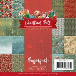 (ADPP10034)Paperpack - Amy Design - Christmas Pets