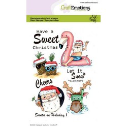 (1691)CraftEmotions clearstamps A6 - Santa on Holiday 1 Carla Creaties