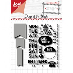 (6004/0036)Clear stamp / Stencil set - Noor - Days of the week