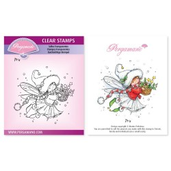 (PER-ST-70369-A6)Pergamano clear stamp CHRISTMAS POPPETS - PRU