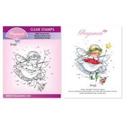 (PER-ST-70370-A6)Pergamano clear stamp CHRISTMAS POPPETS - PRESH