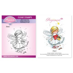 (PER-ST-70371-A6)Pergamano clear stamp CHRISTMAS POPPETS - PEARL