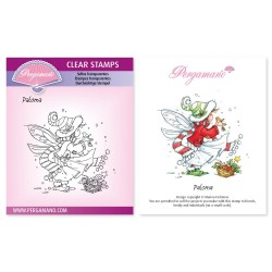 (PER-ST-70372-A6)Pergamano clear stamp CHRISTMAS POPPETS - PALOMA