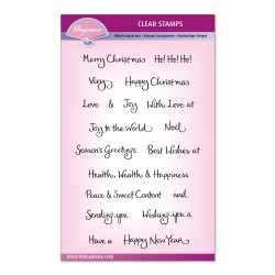 (PER-ST-70366-A5)Pergamano clear stamp BARBARA'S CHRISTMAS SENTIMENTS UNMOUNTED STAMP SET