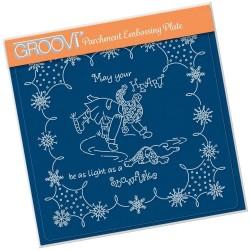 (GRO-LW-41563-03)Groovi Plate A5 LINDA'S CHILDREN - WINTER - BOY ICE SKATING