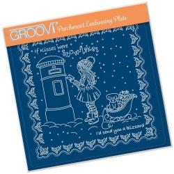 (GRO-LW-41562-03)Groovi Plate A5 LINDA'S CHILDREN - WINTER - GIRL...