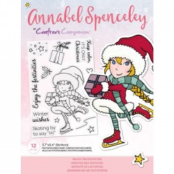 (AS-STP-ENJIES)Crafter's Companion Annabel Spenceley Enjoy The Festivities Stamps