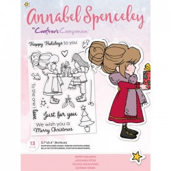 (AS-STP-HAPAYS)Crafter's Companion Annabel Spenceley Happy Holidays Stamps