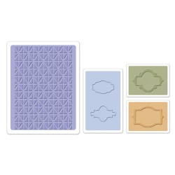 (658458)Embossing folders Jar Labels Set