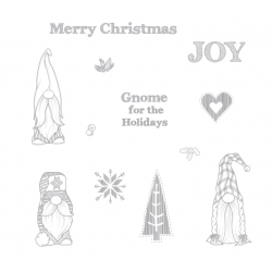 (SS-0588)Fun Stampers Journey Gnome for the Holidays Rubber Stamps