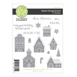 (SS-0700)Fun Stampers Journey Sweet Gingerbread Rubber Stamps