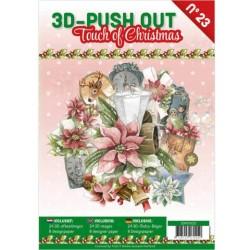 (3DPO10023)3D Push Out boek 23 - Touch of Christmas