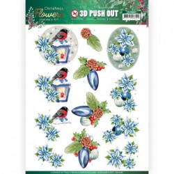 (SB10480)3D Push Out - Jeanine's Art – Christmas Flowers - Christmas Lantern