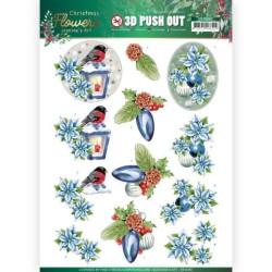 (SB10480)3D Push Out - Jeanine's Art – Christmas Flowers - Christmas Lantern
