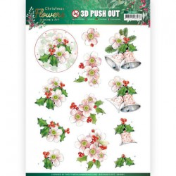 (SB10481)3D Push Out - Jeanine's Art – Christmas Flowers - Pink Christmas Flowers