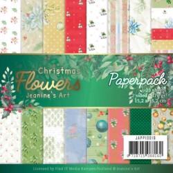 (JAPP10016)Paperpack - Jeanine's Art – Christmas Flowers
