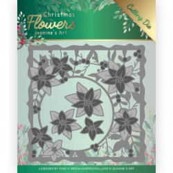 (JAD10102)Dies - Jeanine's Art – Christmas Flowers - Poinsettia Frame