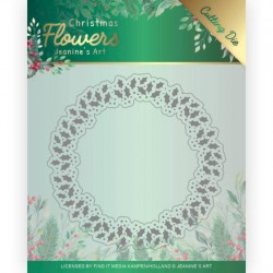 (JAD10103)Dies - Jeanine's Art – Christmas Flowers - Holly Christmas Wreath