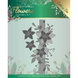 (JAD10105)Dies - Jeanine's Art – Christmas Flowers - Poinsettia Border