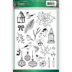 (JACS10033)Clear Stamps - Jeanine's Art – Christmas Flowers