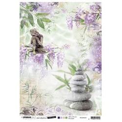 (RICEJMA28)Studio Light Jenine's Mindful Art Rice Paper Time to Relax, nr.28