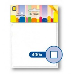 (3.3100)3D Foam Squares 400pcs / 5 x 5 x 2mm