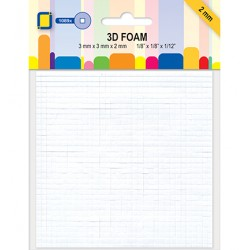(3.3096)3D Foam Squares mini 1089pcs / 3 x 3 x 2mm