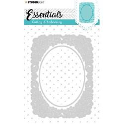 (STENCILSL314)Studio Light Cutting and Embossing Die, Card Shape Essentials, nr.314