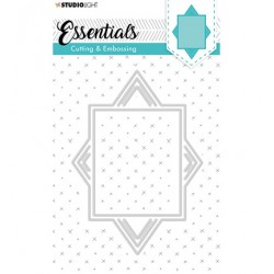(STENCILSL317)Studio Light Cutting and Embossing Die, Card Shape Essentials, nr.317