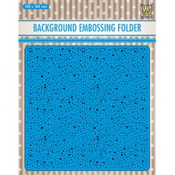 (EEB030)Nellie`s Choice Emb.folder Background -dots