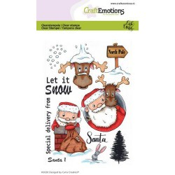 (1687)CraftEmotions clearstamps A6 - Santa 1 Carla Creaties
