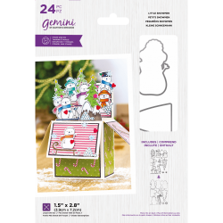 (GEM-STD-LITEN)Gemini Little Snowmen Stamp & Die