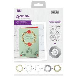 (GEM-STD-FWRE)Gemini Festive Wreath Stamp & Die