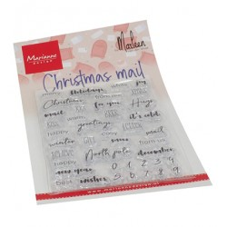 (CS1070)Clear stamp  Christmas mail by Marleen