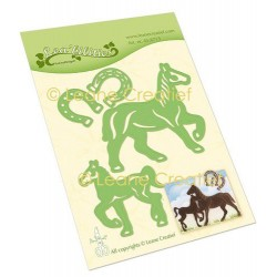 (45.6715)Lea'bilitie Cutting die Horse & Foal
