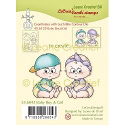 (55.6043)Clear Stamp combi Baby Boy & Girl
