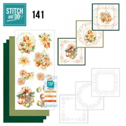 (STDO141)Stitch and Do 141 - Jeanine's Art - Salmon Christmas Baubles