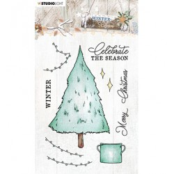 (STAMPWC489)Studio light Clear Stamp Winter Charm, nr.489