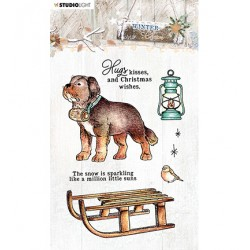 (STAMPWC488)Studio light Clear Stamp Winter Charm, nr.488