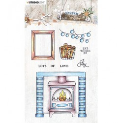 (STAMPWC490)Studio light Clear Stamp Winter Charm, nr.490